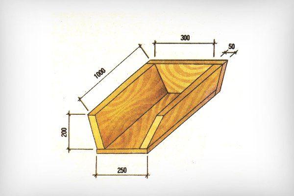 Размеры деревянного корыта для поросят