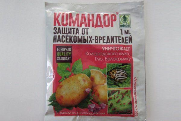 Командор от вредителей картофеля