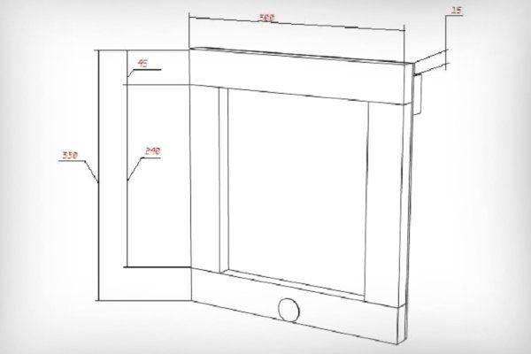 Передняя панель ящика для пчелопакетов