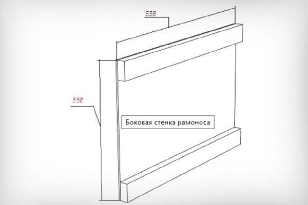 Боковая панель ящика для пчелопакетов