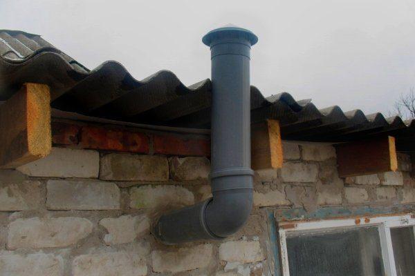 Вытяжная вентиляция в сарае для гусей