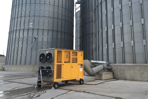 Охлажденный метод хранения зерна