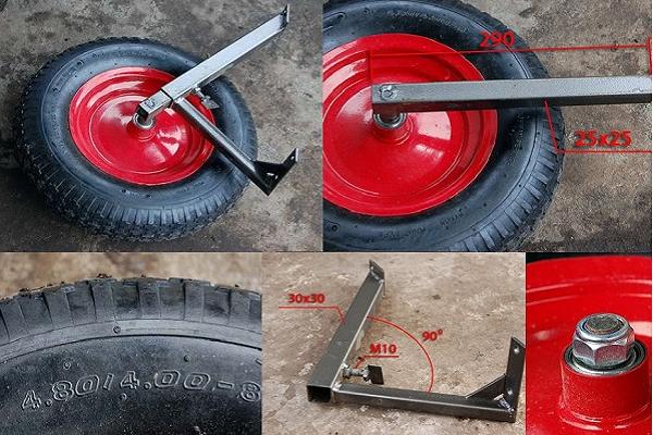 Установить колесные оси