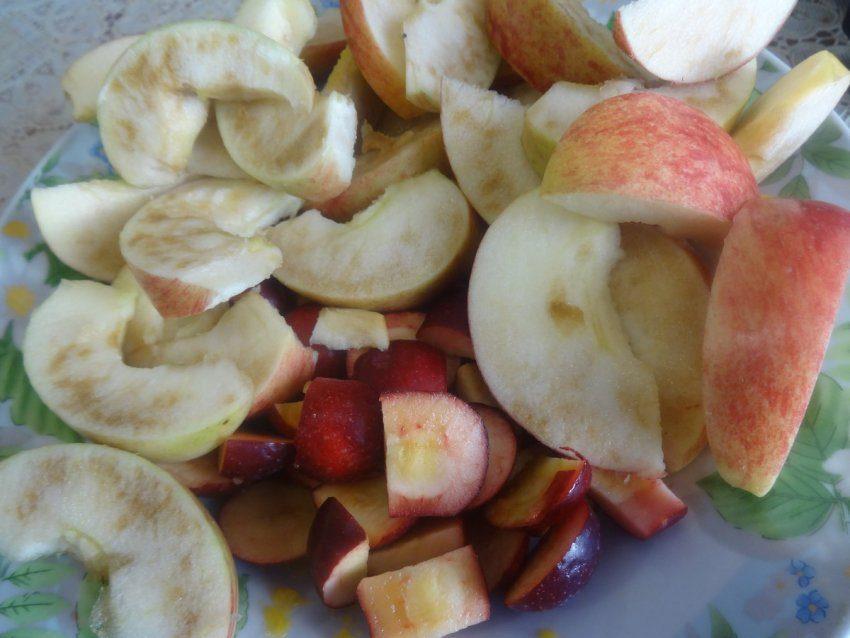 Нектар с мякотью тыквы и с яблоками
